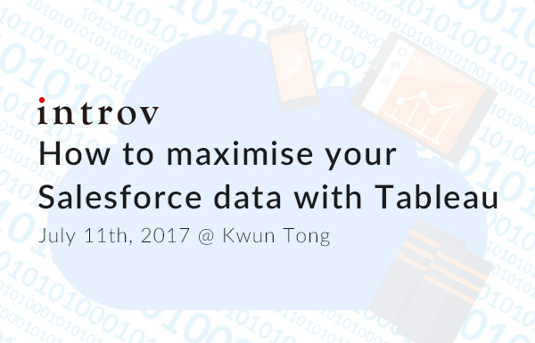Tableau Workshop: How to maximise your Salesforce Data with Tableau (July 11th, 2017)