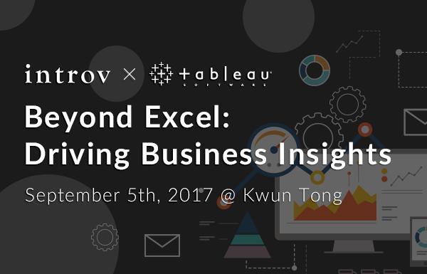 Tableau Workshop: Beyond Excel: Driving Business Insights (September 5th, 2017)
