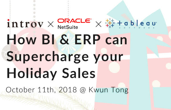 How BI & ERP can Supercharge your Holiday Sales (October 11th, 2018)