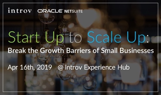 Start Up to Scale Up Workshop (April 16th, 2019)