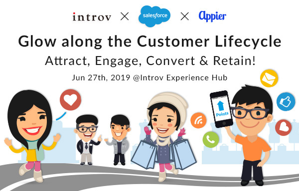 Glow along the Customer Lifecycle: Attract, Engage, Convert and Retain (June 27th, 2019)