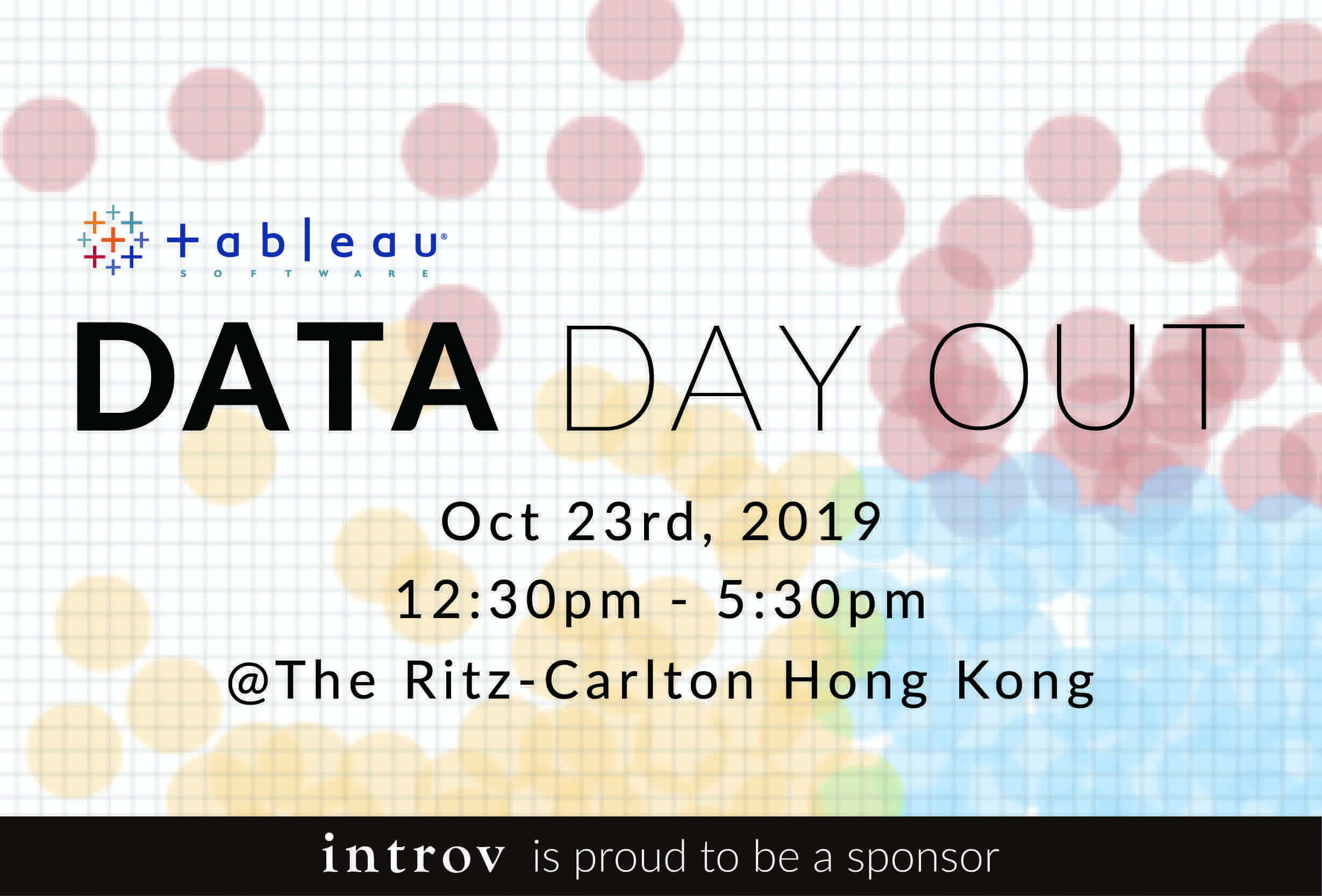 Introv as Sponsor of Tableau Data Day Out Hong Kong 2019 (October 23rd, 2019)