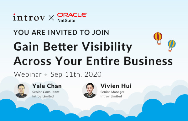 Webinar: Gain Better Visibility Across Your Entire Business (September 11th, 2020)
